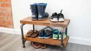 DIY Industrial Shoe Rack