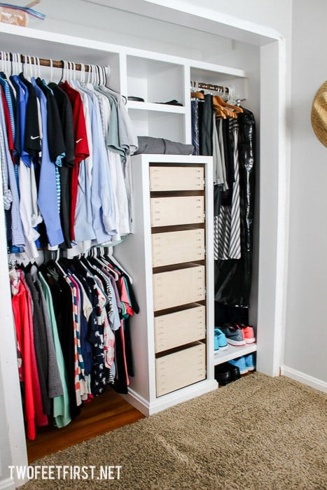 How to build drawers for a closet system