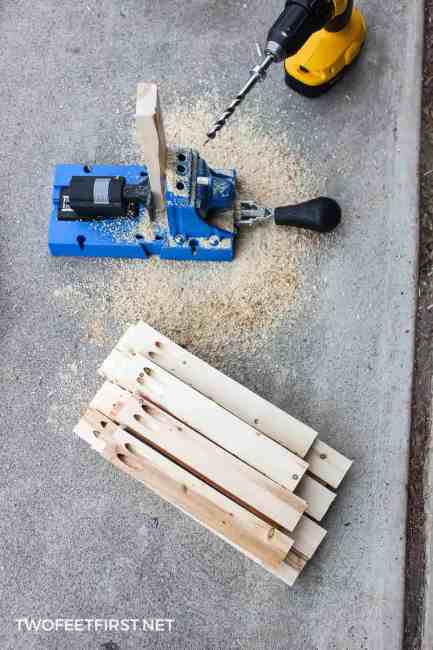using Kreg Jig to create picture frame