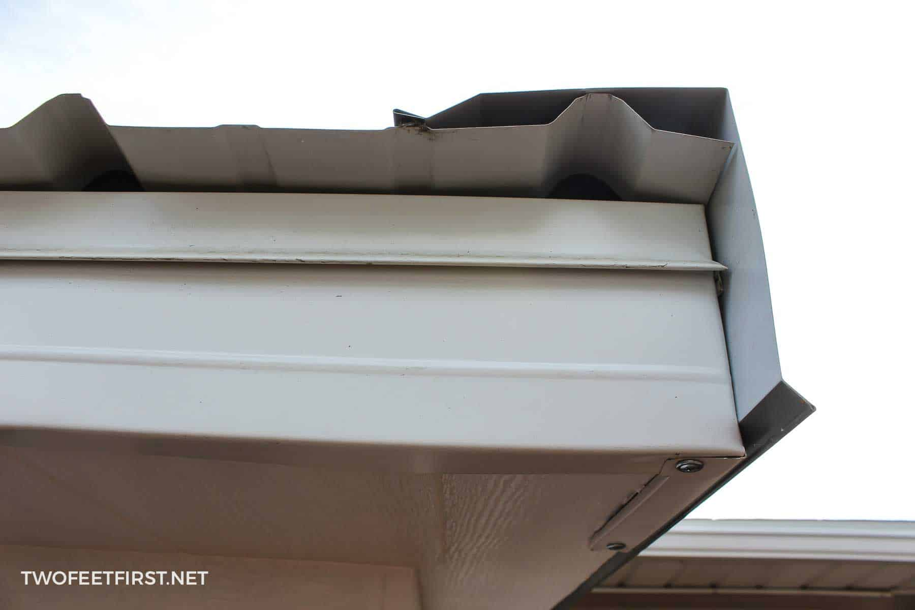 drip edge to shed roof