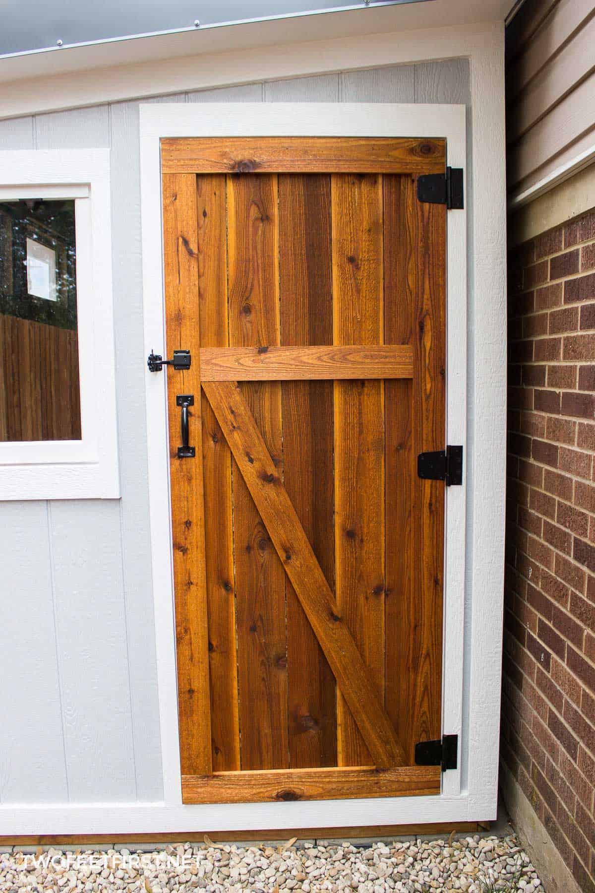 how to build a cedar shed door. Black Bedroom Furniture Sets. Home Design Ideas