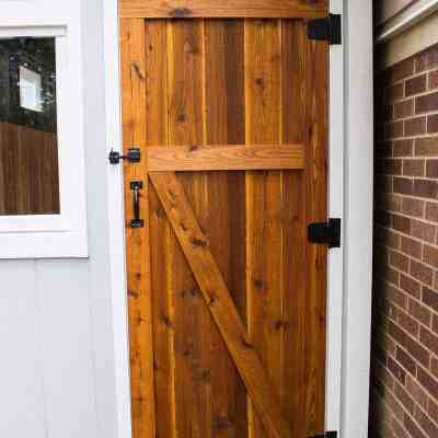 Build a Simple Cedar Shed Door