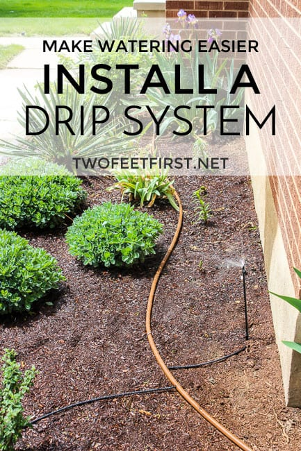 install a drip system for flower bed