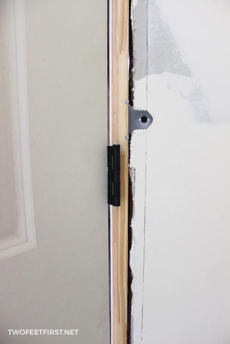 install an interior door with quick door hangers