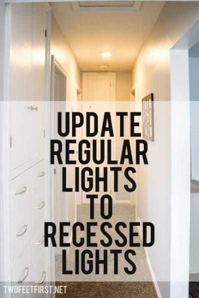 update light to recessed light