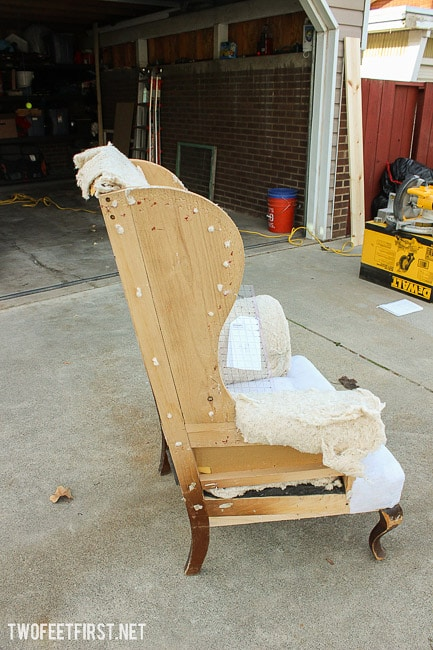 how to reupholster wingback chair