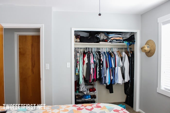 Ideas to update a small closet