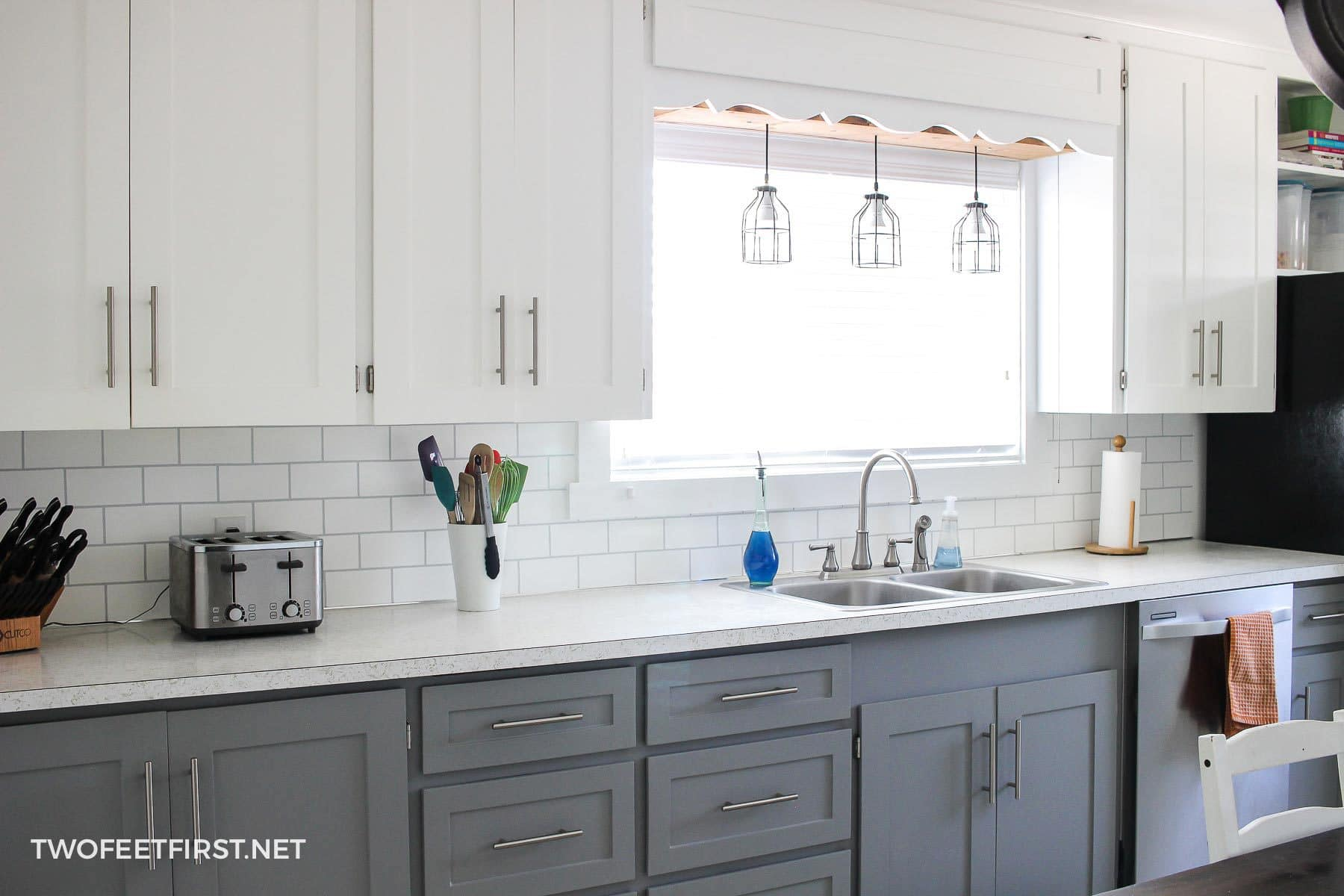 Update kitchen cabinets without replacing them by adding trim