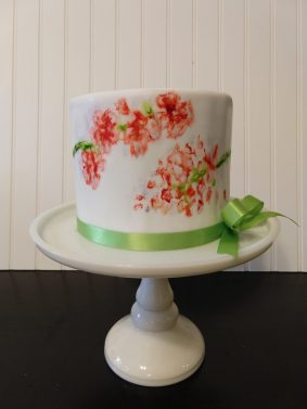 Watercolor icing cake