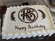 Relief Society birthday cake