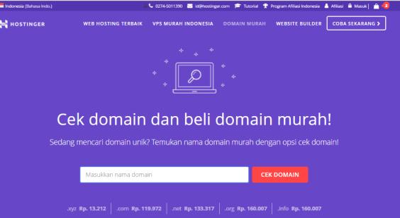 Cek domain ter murah