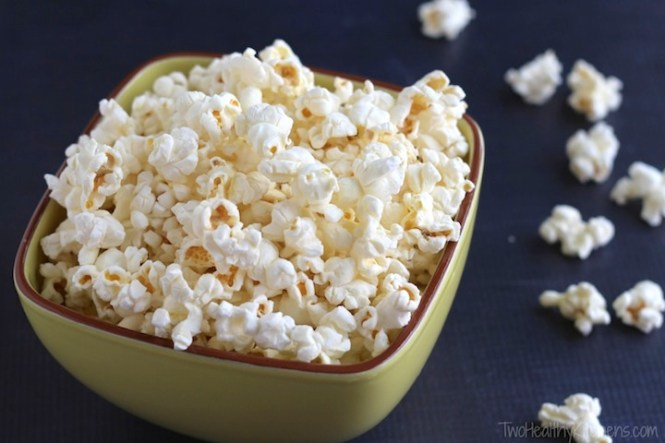 Big Pieces Of Freshly Popped Stovetop Air Popcorn