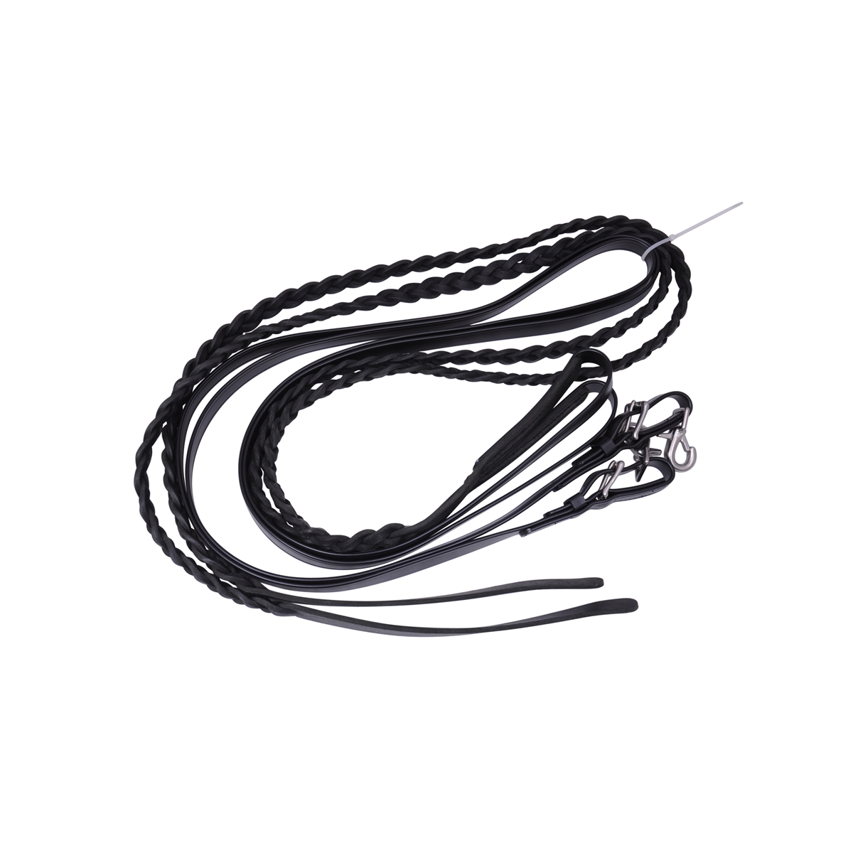 Three Plait Leather Driving Lines