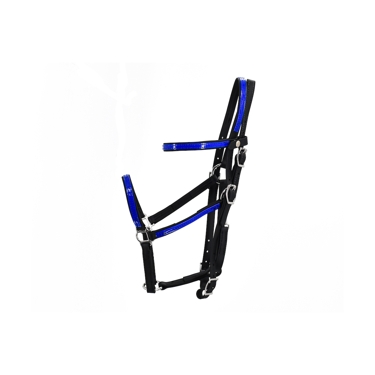 Quick Change Halter Bridle With Snap On Browband Made From