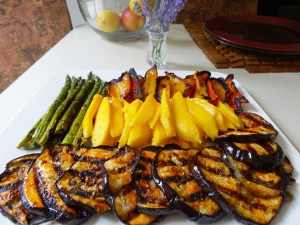 Grilled Vegetables and Mango