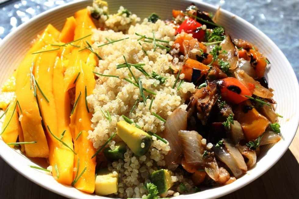 Sweet and Spicy Glazed Vegetable Bowl