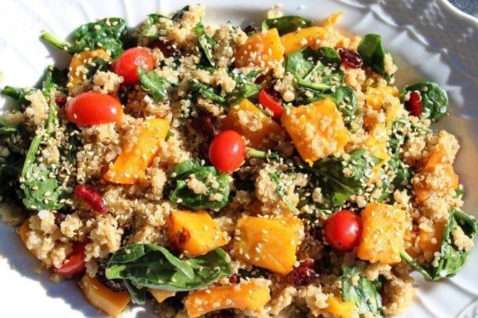 Quinoa and Glazed Butternut Squash salad