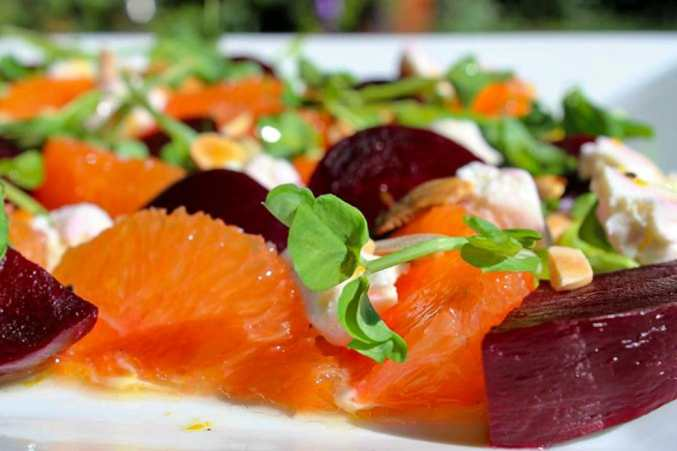 Beet, Orange and Goat Cheese Salad
