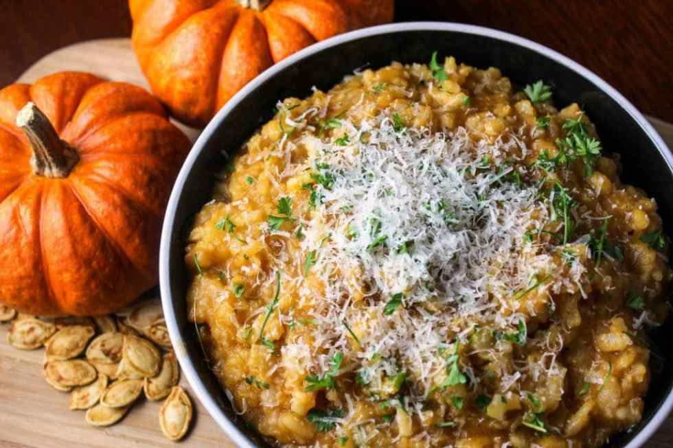 Slow Cooker Pumpkin Risotto