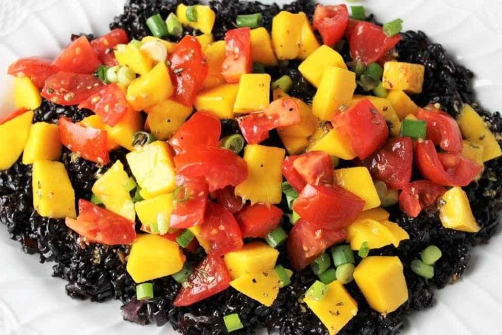 Warm Black Rice Salad