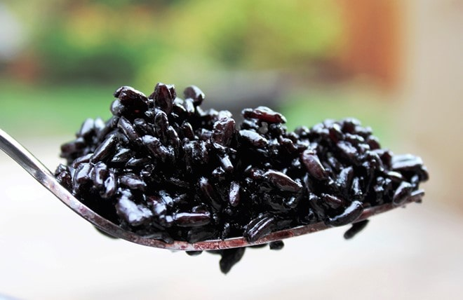black rice cooked