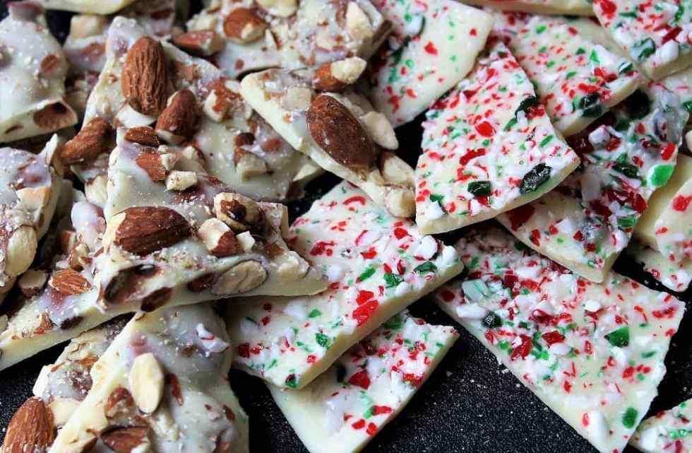 White Chocolate Bark (roasted almond; peppermint)
