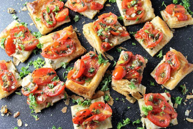 Herbed Tomato Puff Pastry Cheese Tart