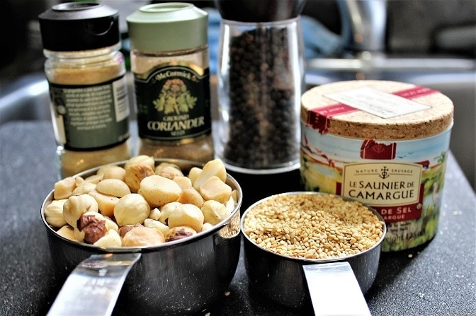 Dukkah ingredients