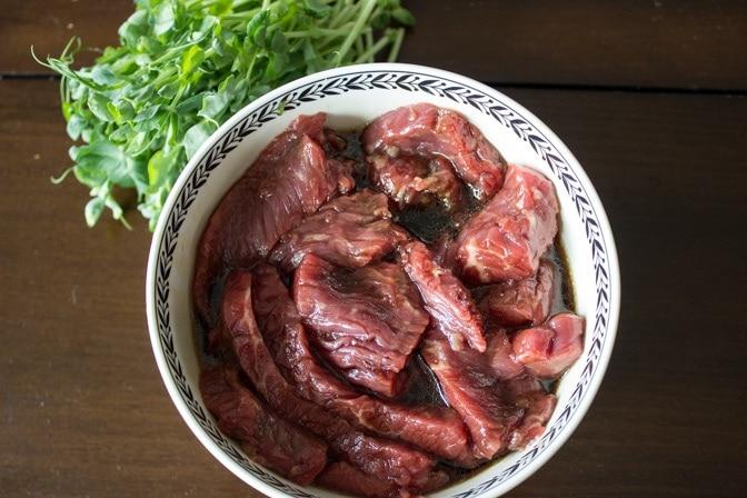 marinated sirloin