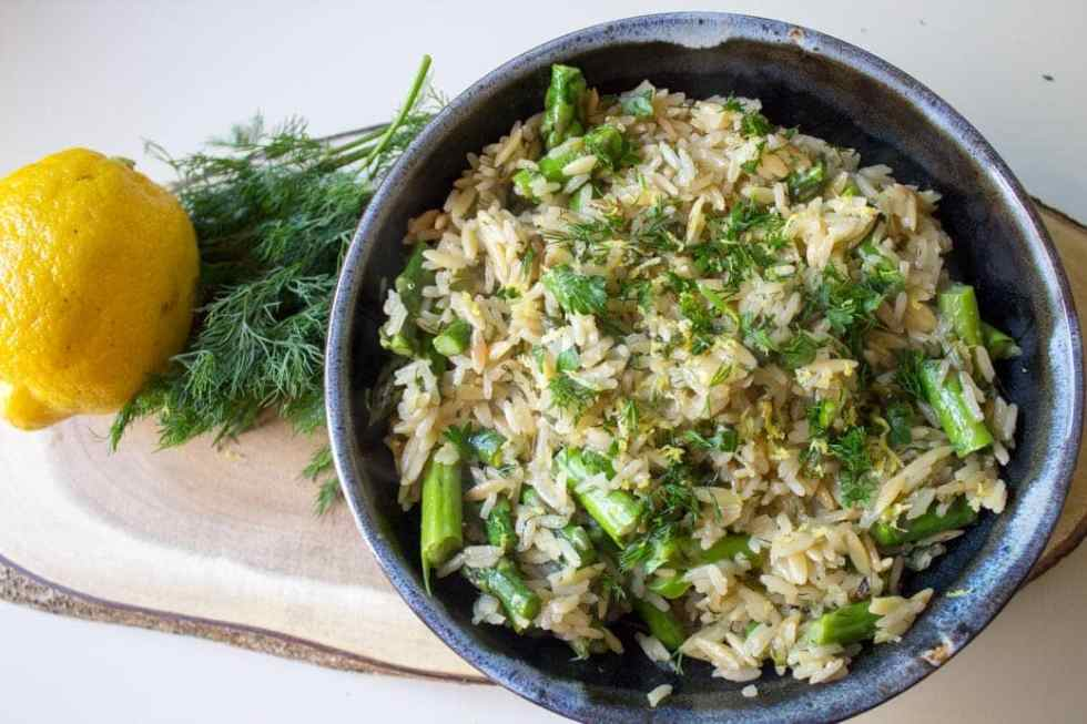 Lemon Dill Rice-Orzo (homemade rice-a-roni)