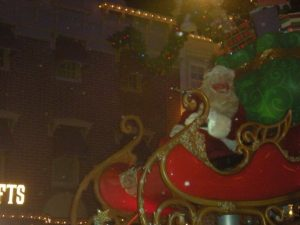 Yes, I did get to see Santa in the parade.