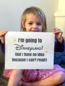 We're going to Disneyland