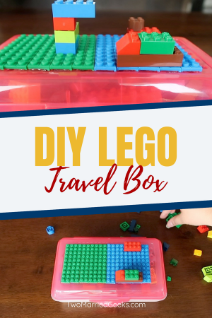 DIY Lego Travel Box! This is a great craft for kids and parents to make! Easy and fun! #crafts #kidcrafts #craftsforkids