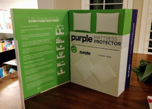 Purple mattress protector