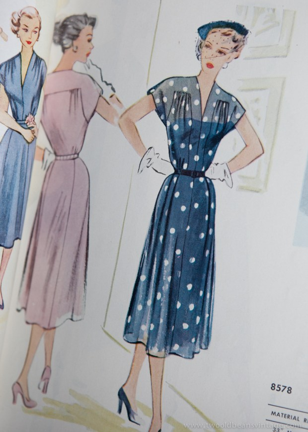 8578 Mccalls 1954 Winter Vintage Pattern | 1950s Two Old Beans Vintage Clothing