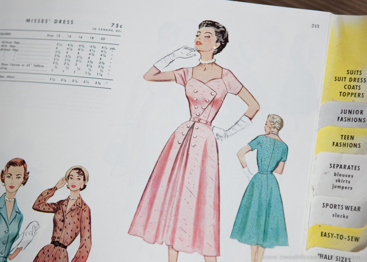 9322 Mccalls 1954 Winter Vintage Pattern | 1950s Two Old Beans Vintage Clothing