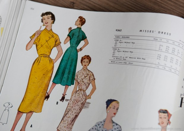 9362 Mccalls 1954 Winter Vintage Pattern | 1950s Two Old Beans Vintage Clothing