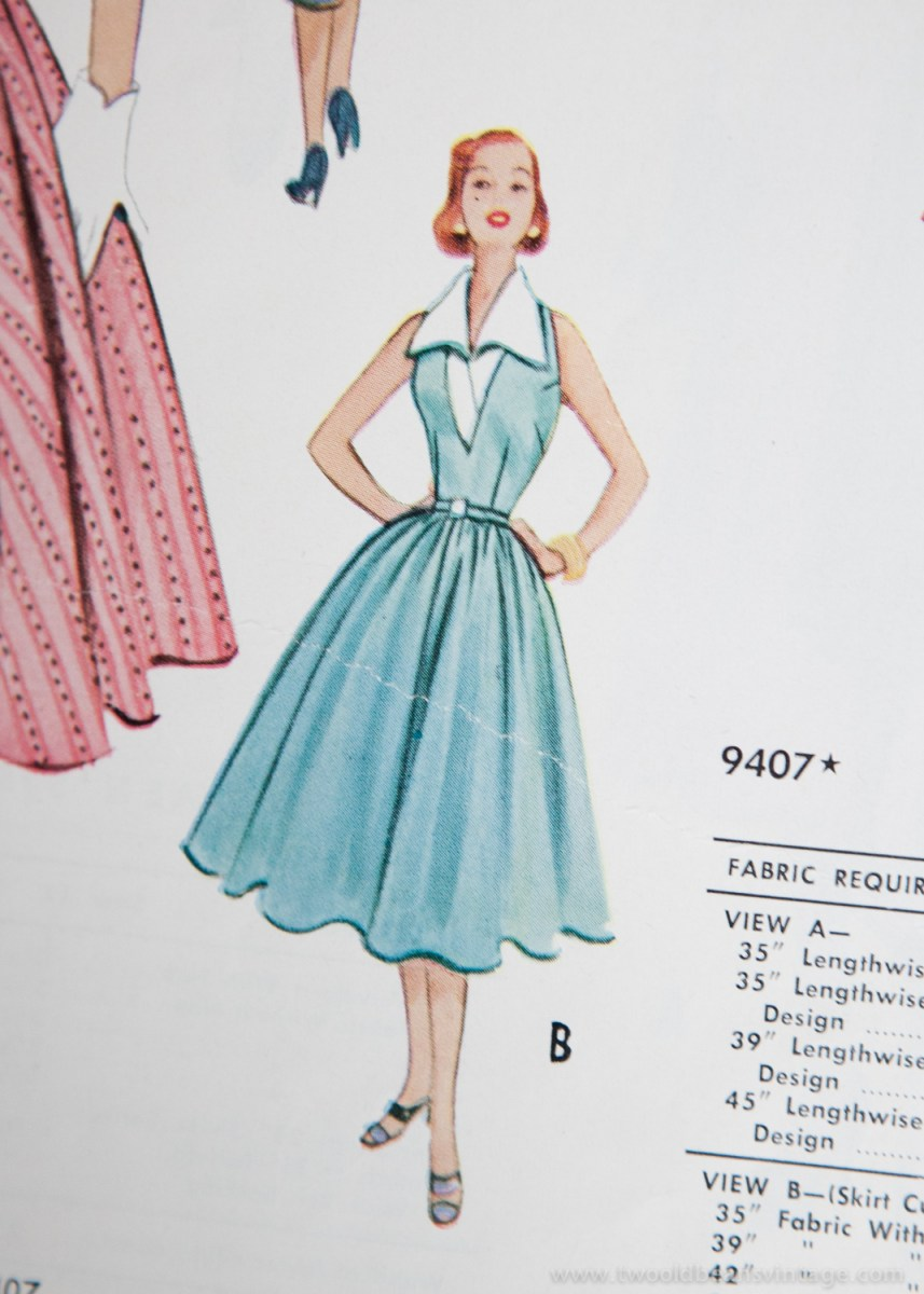 9407 Mccalls 1954 Winter Vintage Pattern | 1950s Two Old Beans Vintage Clothing