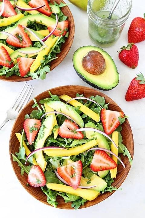 Mango, Strawberry, and Avocado Arugula Salad