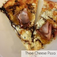 Three-Cheese Pizza with Prosciutto, Fig Jam and Balsamic Glaze