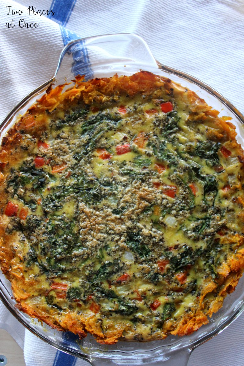 Sweet Potato Crusted Quiche