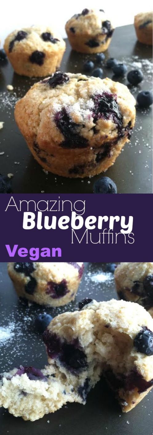 Amazing Blueberry Muffins - Vegan - TwoRaspberries - photo#10