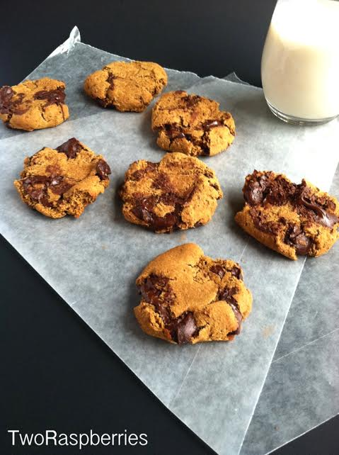 soft smashed chocolate chunk cookies