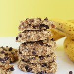 Healthy Chocolate Chip Banana Bread Breakfast Cookies are super filling, easy to make, tastes just like banana bread and only requires 7 ingredients. Vegan and Gluten Free. / TwoRaspberries.com