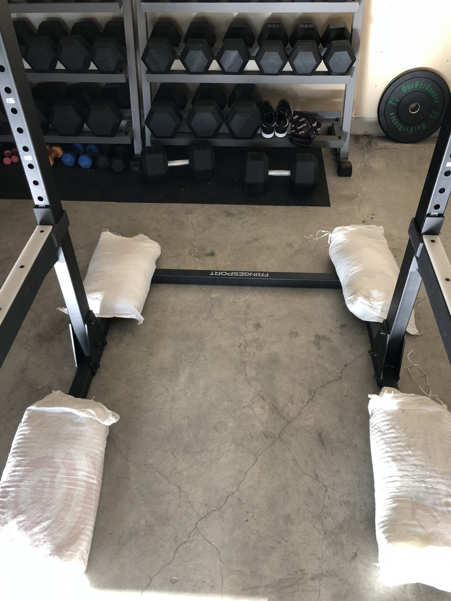 fringesport commercial squat rack with