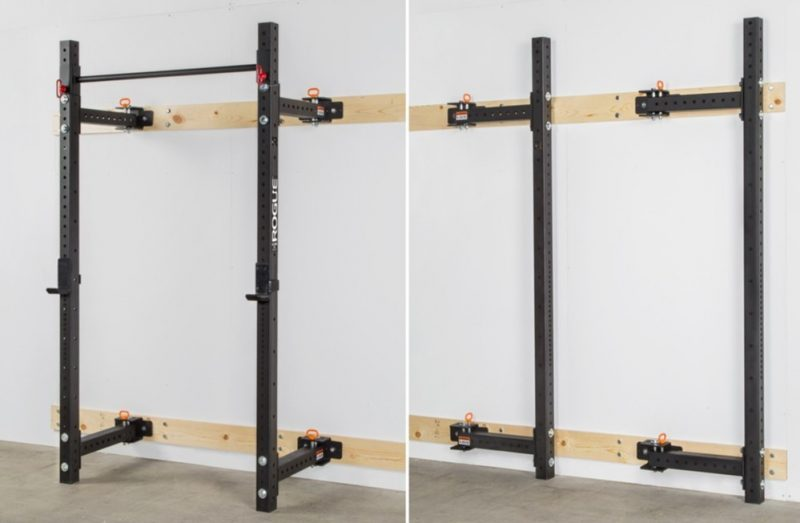 wall mounted squat rack home gym