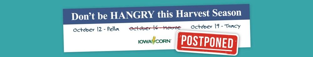 Iowa Corn Harvest Meals - October 16 Postponed