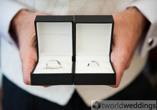 Wedding photography of 2 wedding rings captured by wedding photography specialists TWorld Weddings. BAsed between Lichfield & Tamworth Staffordshire UK.