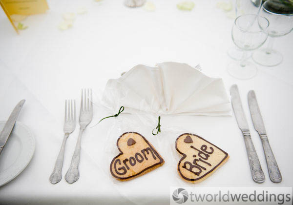 detail wedding photography picture of details of wedding breakfast Staffordshire.
