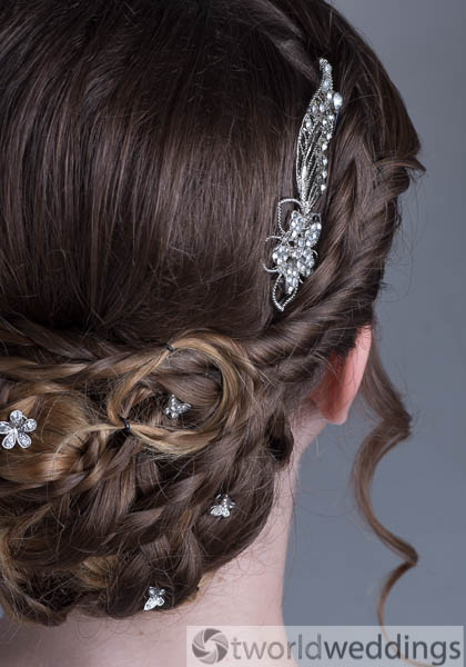 Wedding hairstyles with braids and Updo by TWorld Weddings